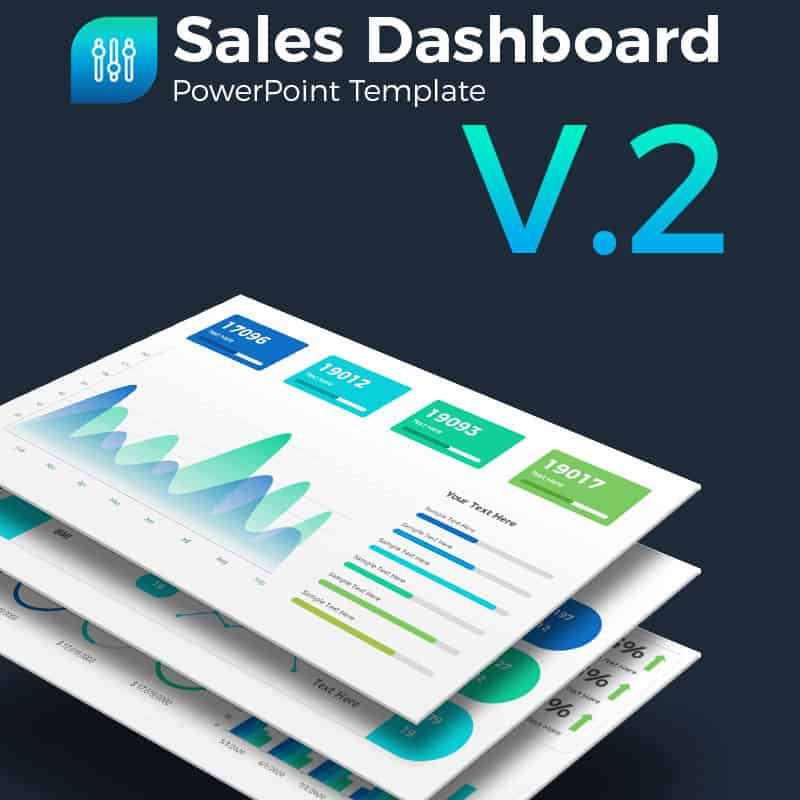 Sales Dashboard Presentation PowerPoint Template