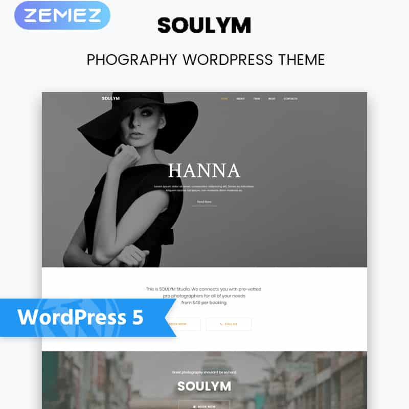 Soulym - Photography Multipurpose Modern Elementor WordPress Theme