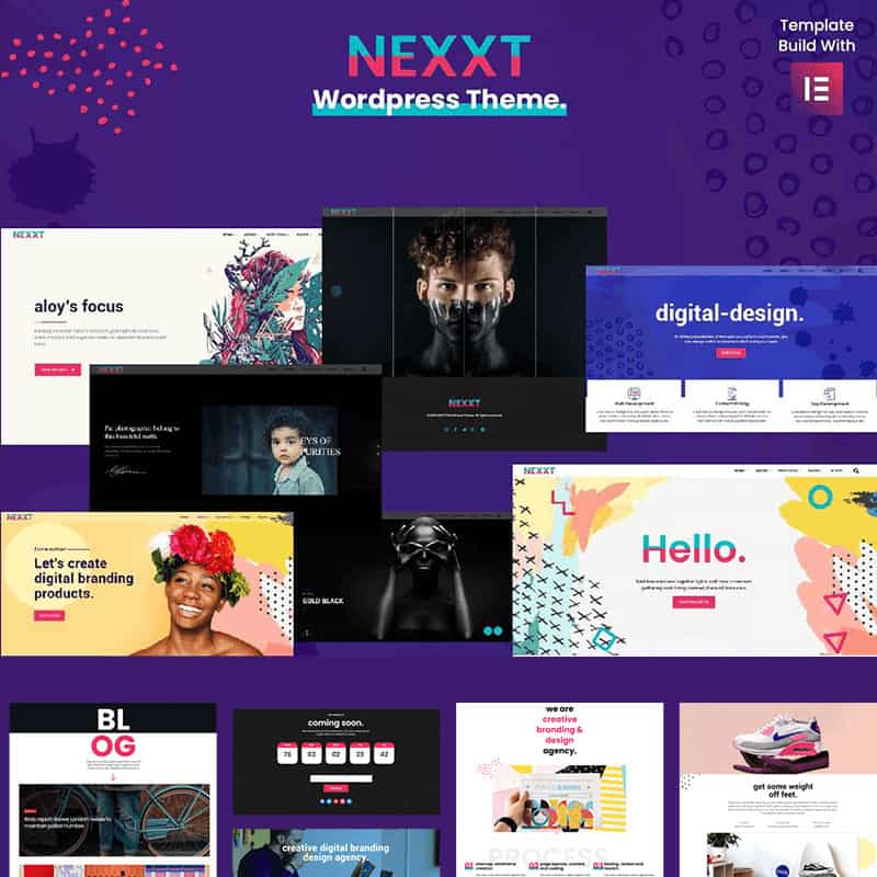 Nexxt - Modern, Colorful & Creative Portfolio WordPress Theme