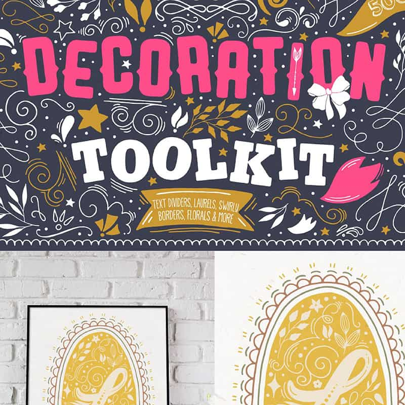 Decoration Toolkit Illustration