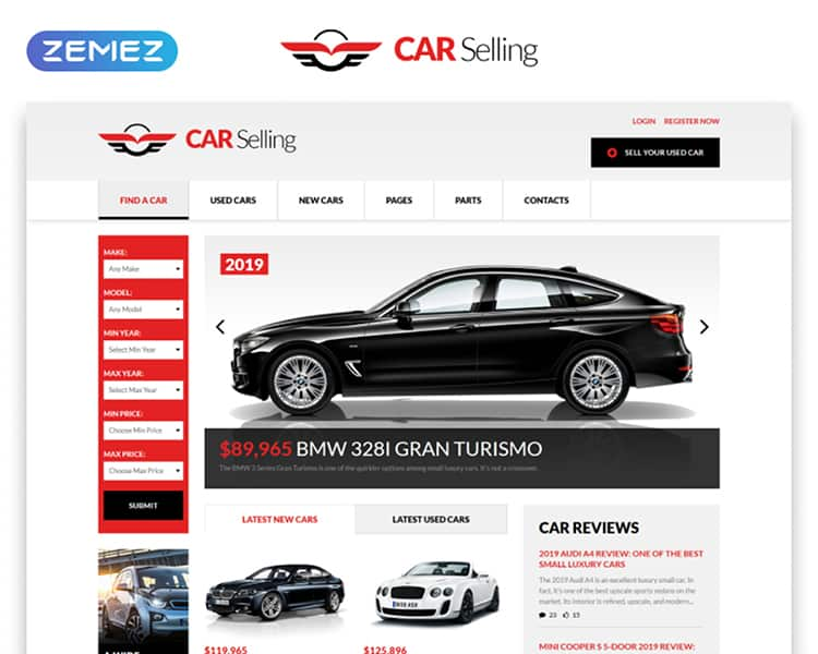 Car Selling HTML Template
