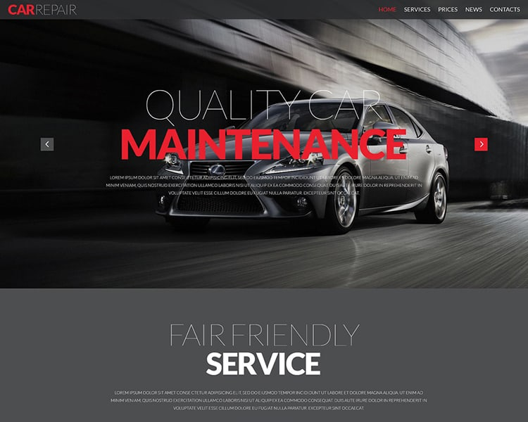 Car Repair Responsive HTML Template