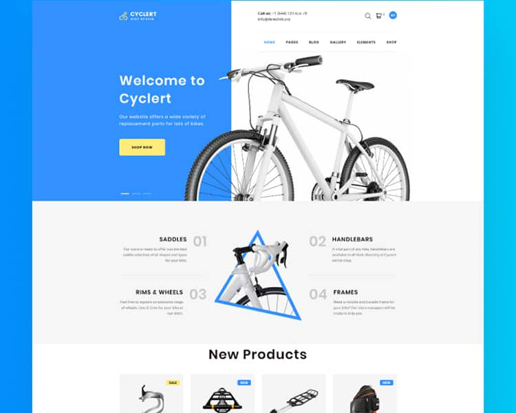 Cycling Multipage Clean HTML Template