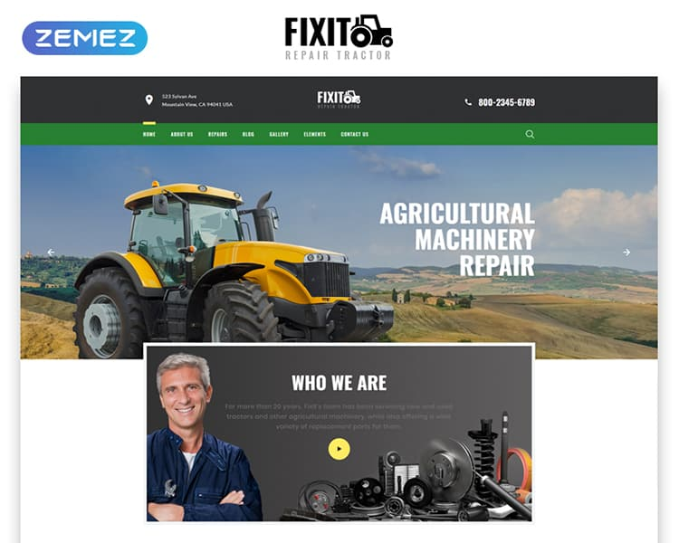 FIXIT Multipage HTML Template