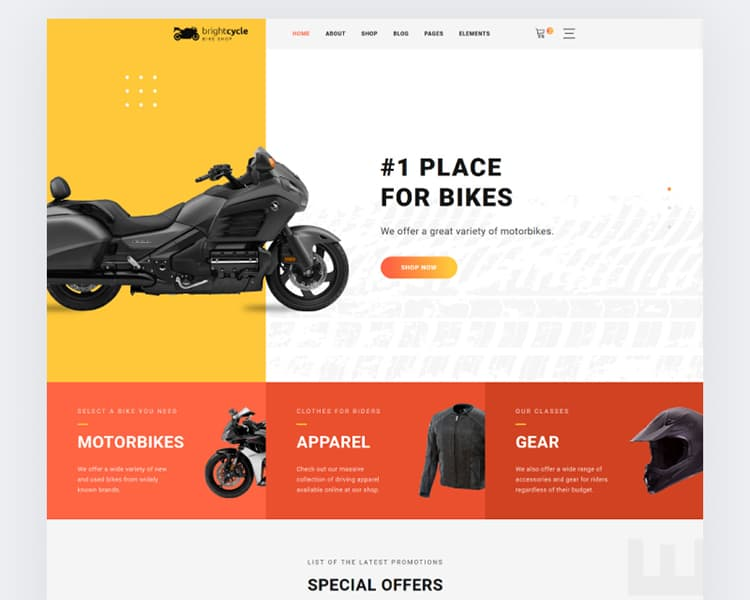 Motorcycle Store Website Template - TemplateMonster