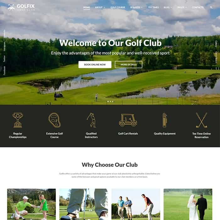 Golf Club Multipage HTML Template
