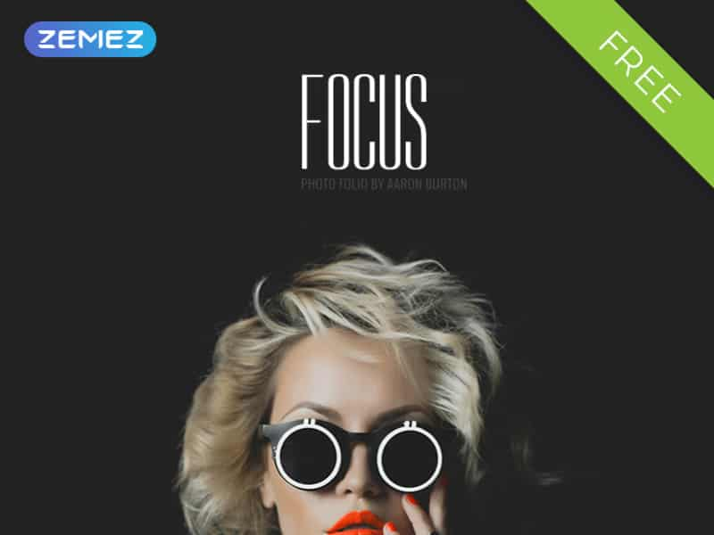 Focus - Photographer Portfolio Free Stylish Joomla Template