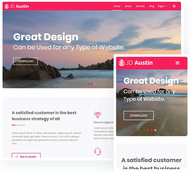 JD Austin - Free Business Joomla Template