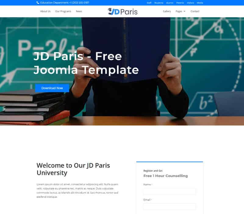 JD Paris - Free School Joomla Template