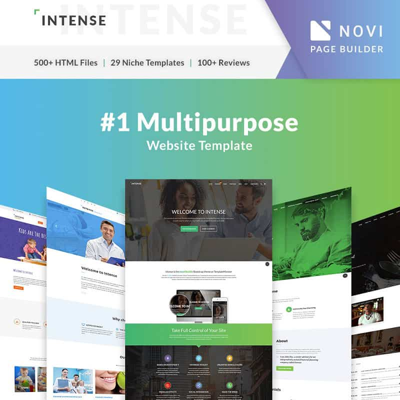Multipurpose Website Template Intense