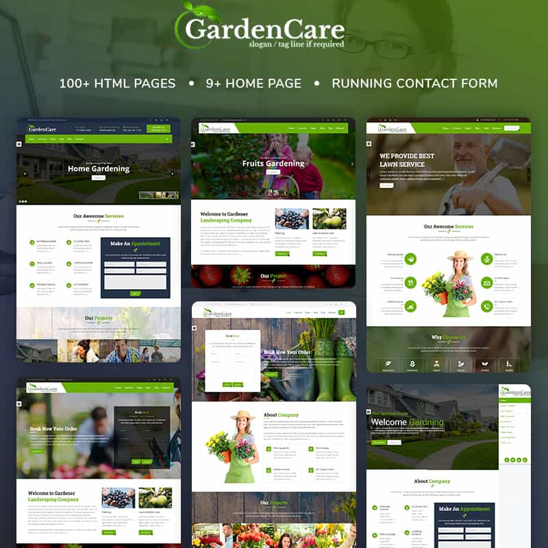 GardenCare - Gardening For Flowers, Fruits, Vegetable Planting & Landscaping Website Template