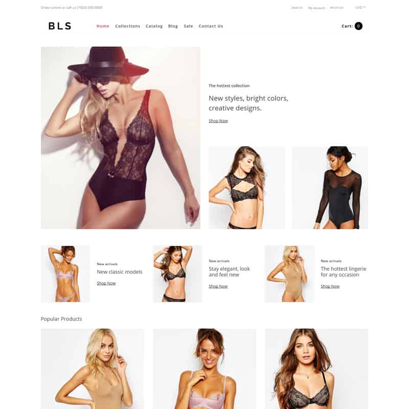 BLS - Lingerie E-commerce Clean Shopify Theme