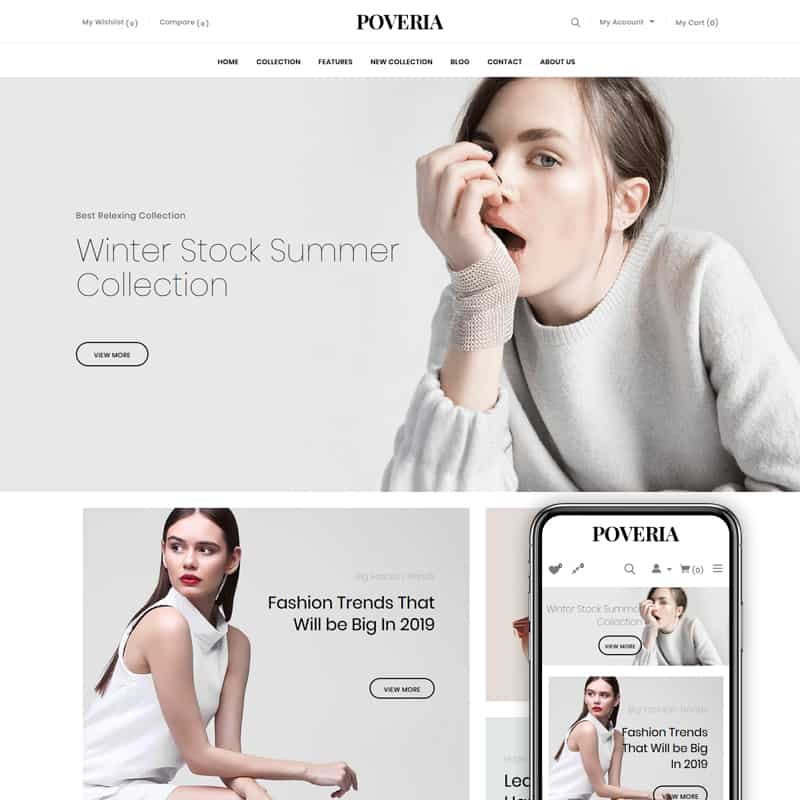 Poveria - Fashion Store Shopify Theme