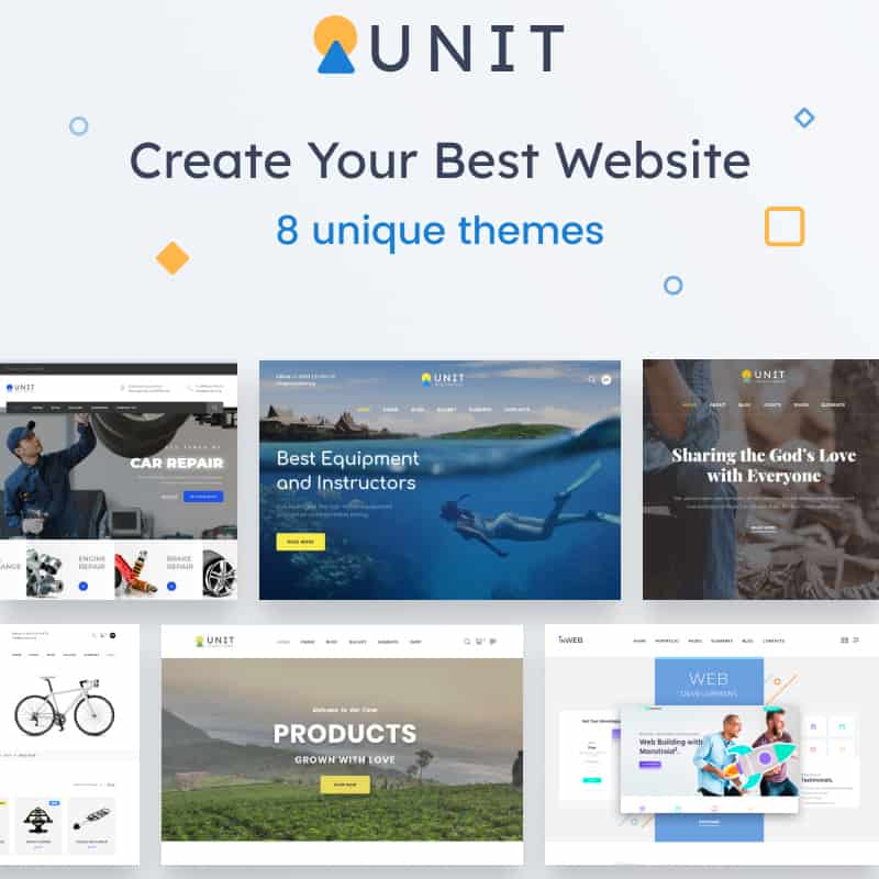 Unit HTML5 Template