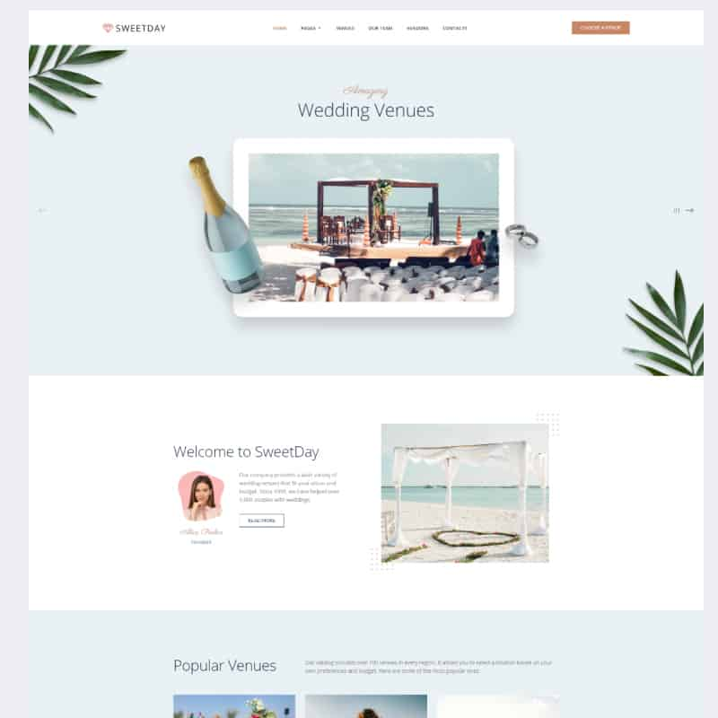 Wedding Venue Agency Template