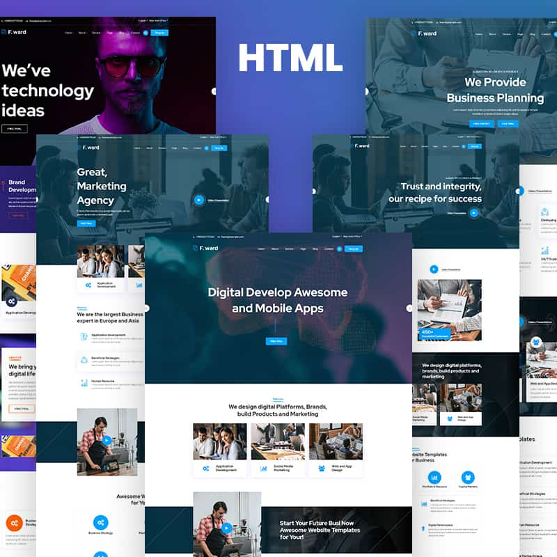 Fward - HTML5 Business Website Template